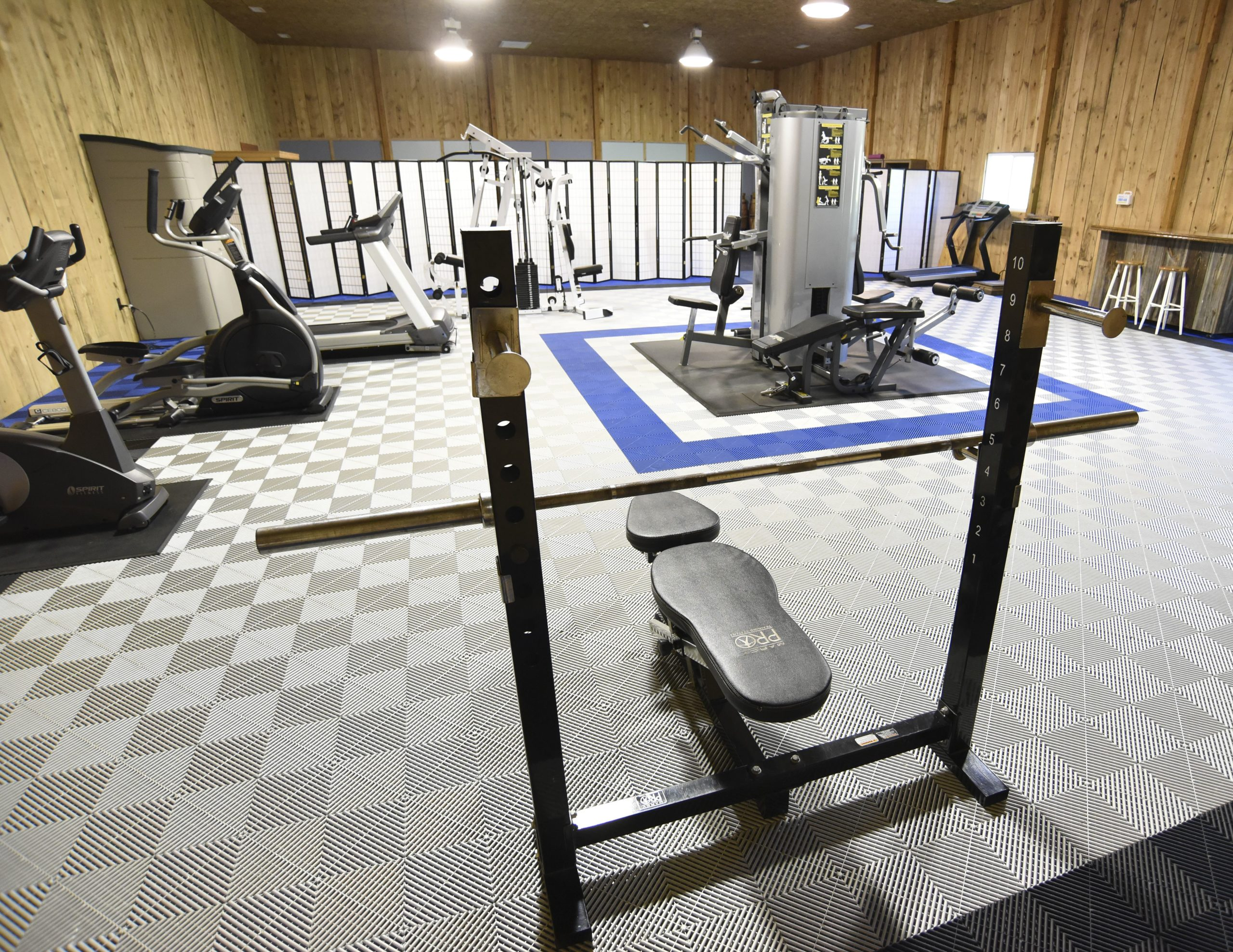 Workout room at Silvermist
